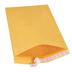 "12.5 X 19"" KRAFT BUBBLE MAILERS, SELF-SEAL, #6,"