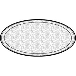 "12"" FLAT ALUMINUM TRAY, 50/CS 451212A   *USE P4412 LID*"