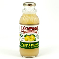 Lemon Juice, 100% Pure, Organic - 12.5oz