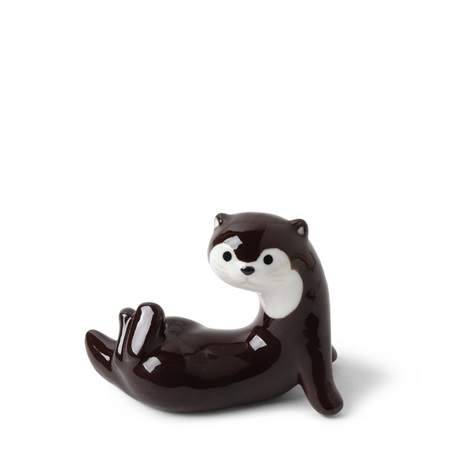 Chopstick Rest Otter Dark Brown