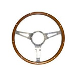 "1965-73 Shelby Cobra Style Genuine Wood & Aluminum 15"" 9 Hole Steering Wheel"