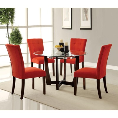 16835 RED MICROFIBER SIDE CHAIR