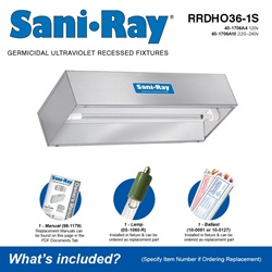 Sani•Ray RRDHO36-1S Included Accessories