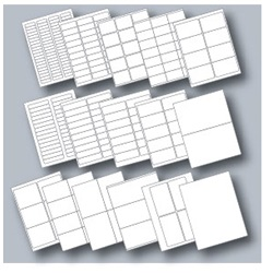 Avery Compatible Laser / Inkjet Blank Label Sheets