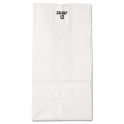 12# WHITE GROCERY BAG, 7-1/16 X 4-1/2 X 13-3/4,