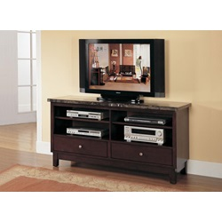 07093B TV CONSOLE W/BLACK MARBLE TOP