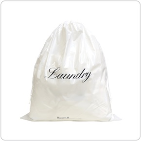 Laundry Bag White Plastic