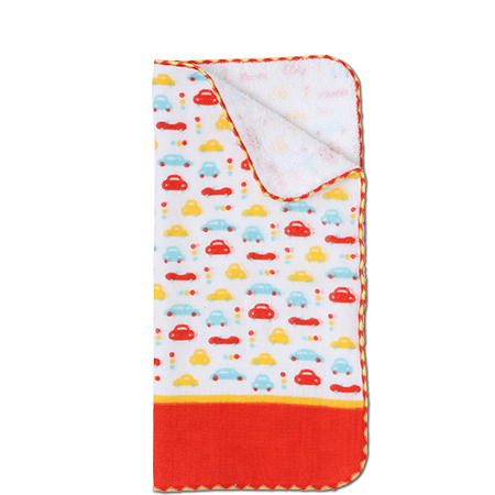 "Towel 9.75"" Sq. Cars"