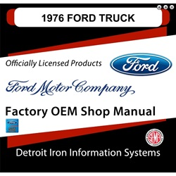 1976 Ford Truck & Van Factory Shop Manual, CD