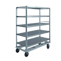 "Food Warming Equip UC-60-512AL Queen Mary Utility Cart 24"" X 57"" Shelves"