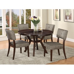 "16250 ESPRESSO DINING TABLE, 48""DIA"