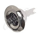 "JET INTERNAL: 3-5/16"" DOUBLE ROTO TYPHOON, GRAPHITE GRAY WITH STAINLESS ESCUTCHEON"