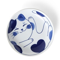 "Blue Cats 7.75"" Bowl"