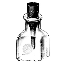 Escher Milk Dilution Bottle Stopper