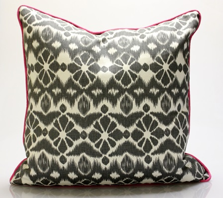 Grey & Pink Pillow