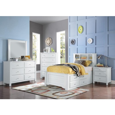 30420T MALLOWSEA WH TWIN STORAGE BED