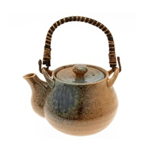 Blue Sand Crackle Tea Pot