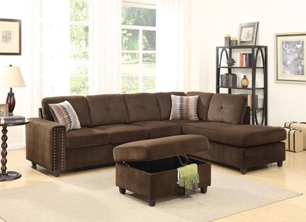sale retailer 541f0 18e49 Acme Furniture - 52700 BELVILLE CHOCOLATE SEC. SOFA