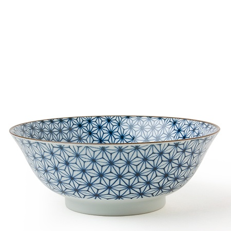 "Asanoha Colors 7.25"" Bowl - Blue"