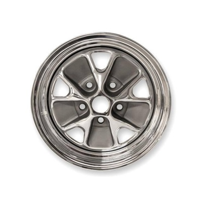 1965 Styled Steel Wheel (Chrome Rim, Charcoal Paint Center)