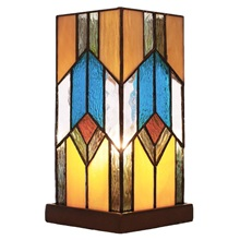 "10.5""H Stained Glass Mission Uplight Accent Lamp"