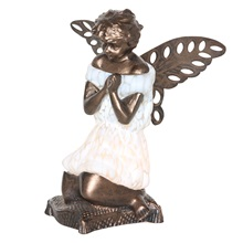 "8.5""H Praying Angel Accent Lamp"