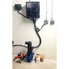 Single fertigation system mounted on wall