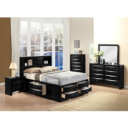 21610Q KIT IRELAND BLACK QUEEN BED