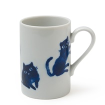 MIDNIGHT BLUE CAT MUG