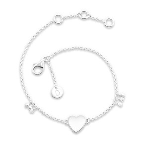 Daisy London Good Karma Bracelet, Little Heart