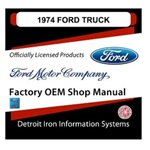 1974 Ford Truck & Van Factory Shop Manual, CD