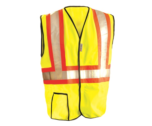 High Visibility Premium Solid Two-Tone Safety Vests
