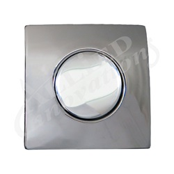 AIR BUTTON TRIM: #20 DESIGNER TOUCH, CHROME, SQUARE
