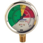 "Color Coded, Numeric Pressure Gauge-2.5"", 3000 PSI"