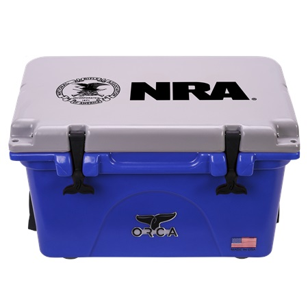 NRA Blue Grey 26qt ORCA Cooler