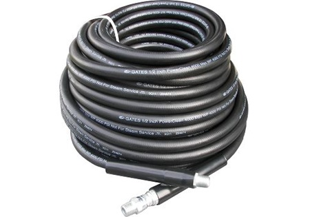1/2? x 100' Black Pressure Hose with 4000 PSI