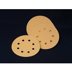 "Discs - Premium Gold Aluminum Oxide Hook & Loop 5"" 8-Hole"