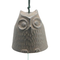 Wind Chime Owl Brown 2-1/2""