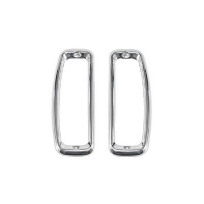 1966-77 Bronco Tail Light Bezels (Stainless Steel)