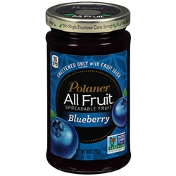 Polaner All Fruit Spread, Blueberry - 10oz