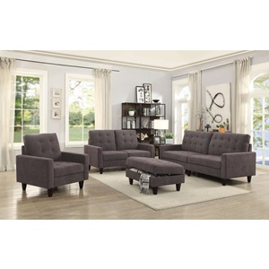 50251 CHOCOLATE FABRIC LOVESEAT