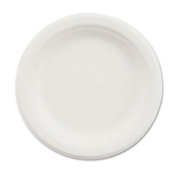 "6"" WHITE MOLDED FIBER PLATE, HEAVY WEIGHT,"