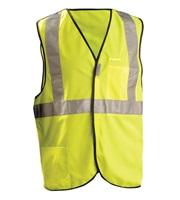 High Visibility Premium Solid 5-pt. Break-Away Safety Vest
