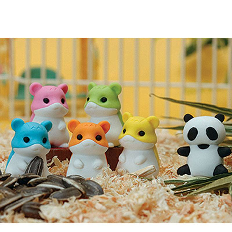 Iwako by Themes Panda in 6 Colours Erasers Zoo Animals