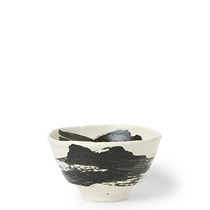 "Black Brush Stroke 5.5"" Bowl"
