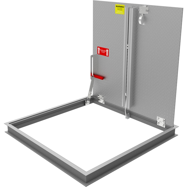 Non-Drainable Floor Door, Aluminum, 300psf