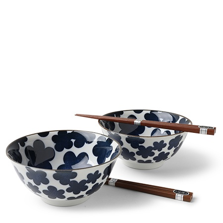 "Blue Clouds 5.75"" Bowl Set"