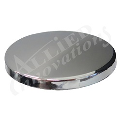AIR BUTTON PLUG: #15 CHROME CAP WITHOUT BUTTON BODY