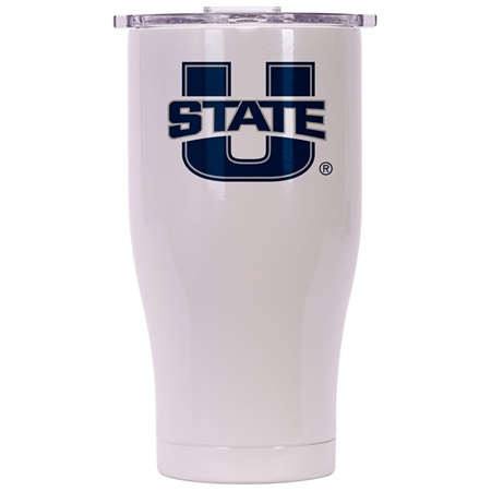 Utah State 27Oz Chaser Pearl/Clear
