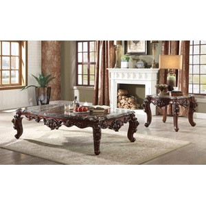 83070 COFFEE TABLE W/MARBLE TOP